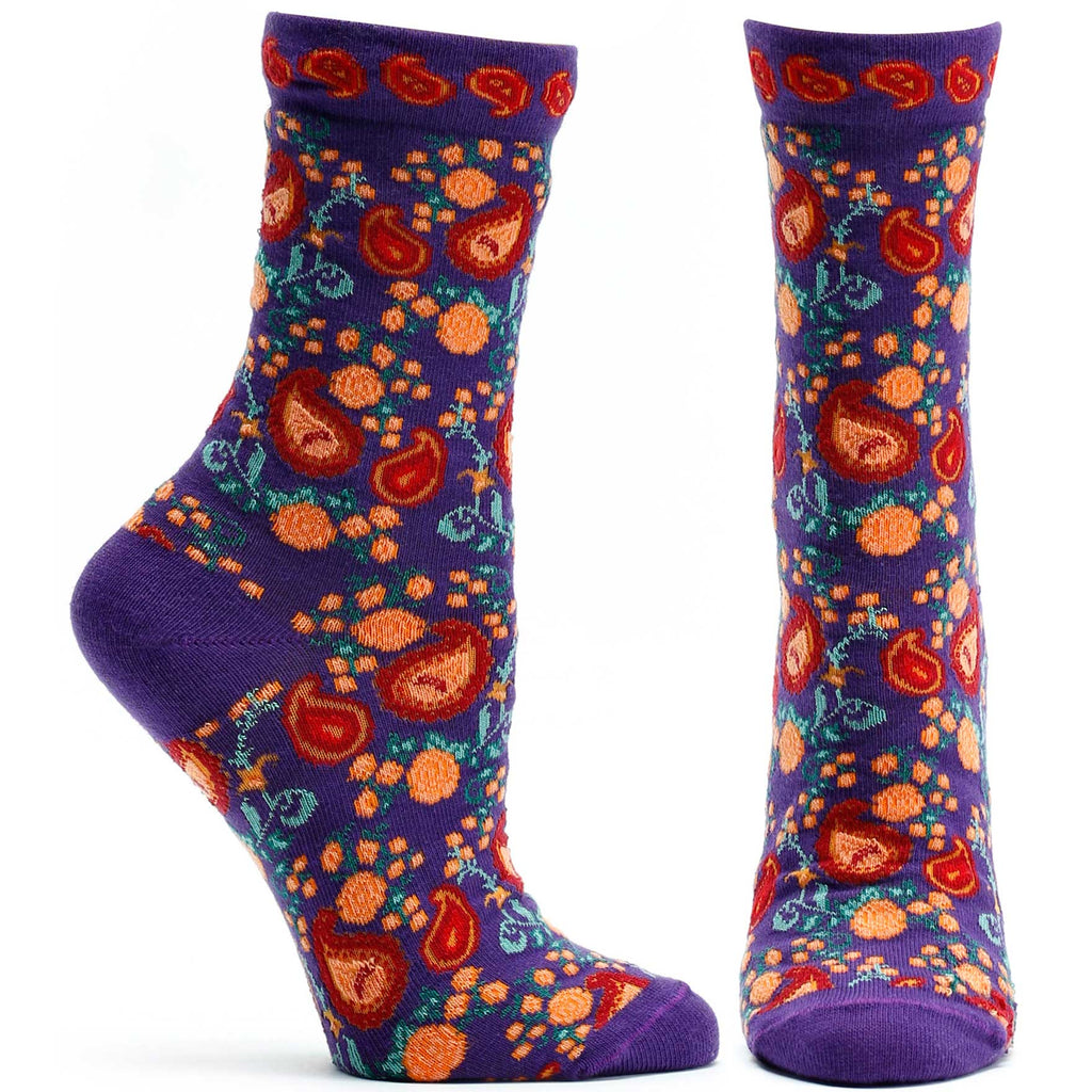 Ozone Design Rajasthani Rose Womens Floral Sock in Beige
