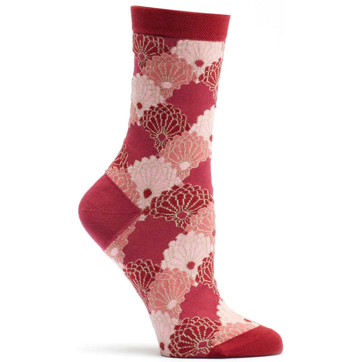 Ozone Design Kimono Threads Womens Novelty Sock in Rose