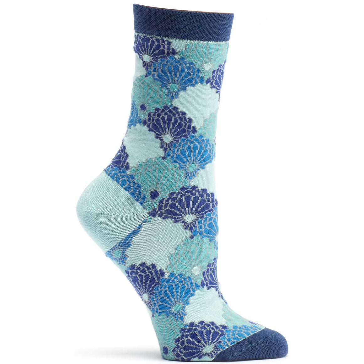 Ozone Design Womens Kimono Threads Novelty Sock in Blue