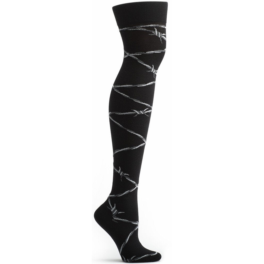 Barbed Wire Over the Knee Sock - Ozone Design Inc