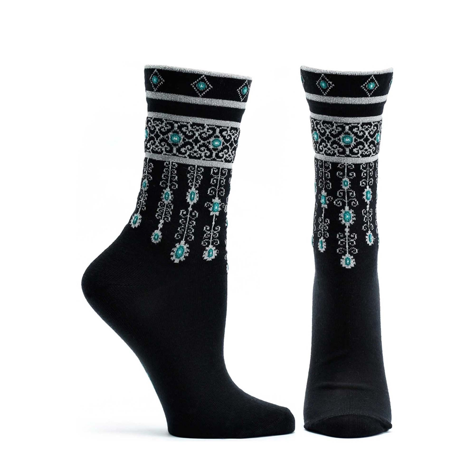 Bejeweled Cuffs Sock - Ozone Design Inc