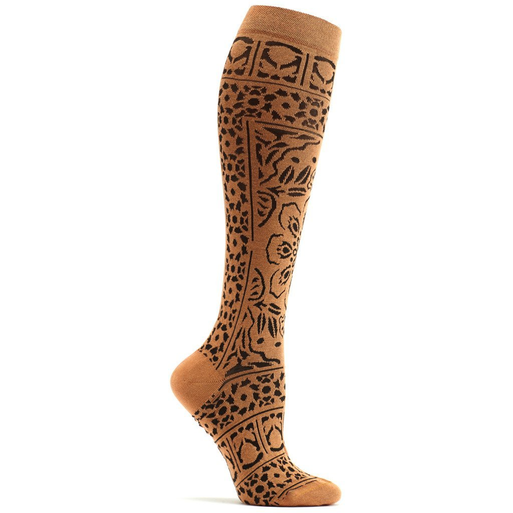 Floral Mosaic Knee High Sock - Ozone Design Inc