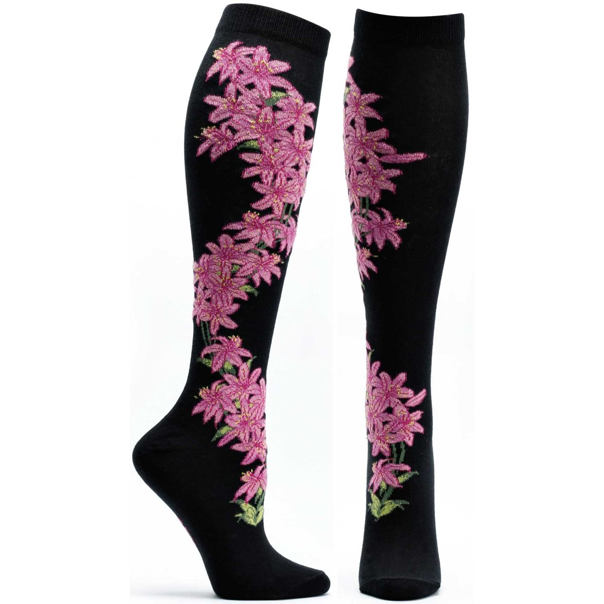 Florals Daylily Knee High Sock - Ozone Design Inc
