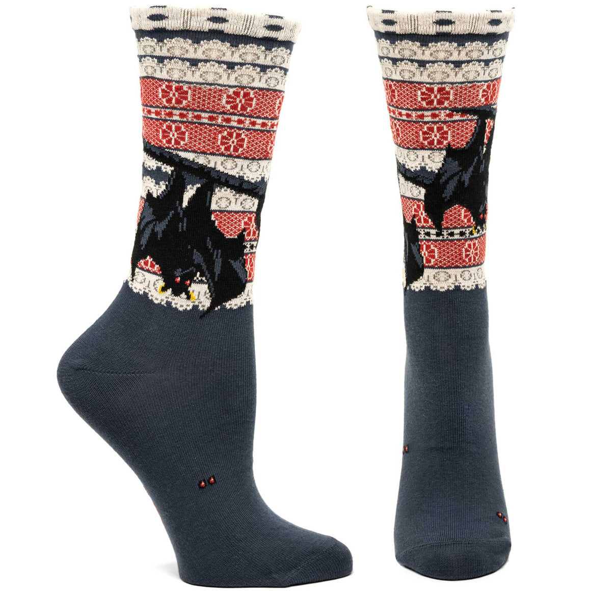Ozone Design bat out of hell womens novelty sock in grey