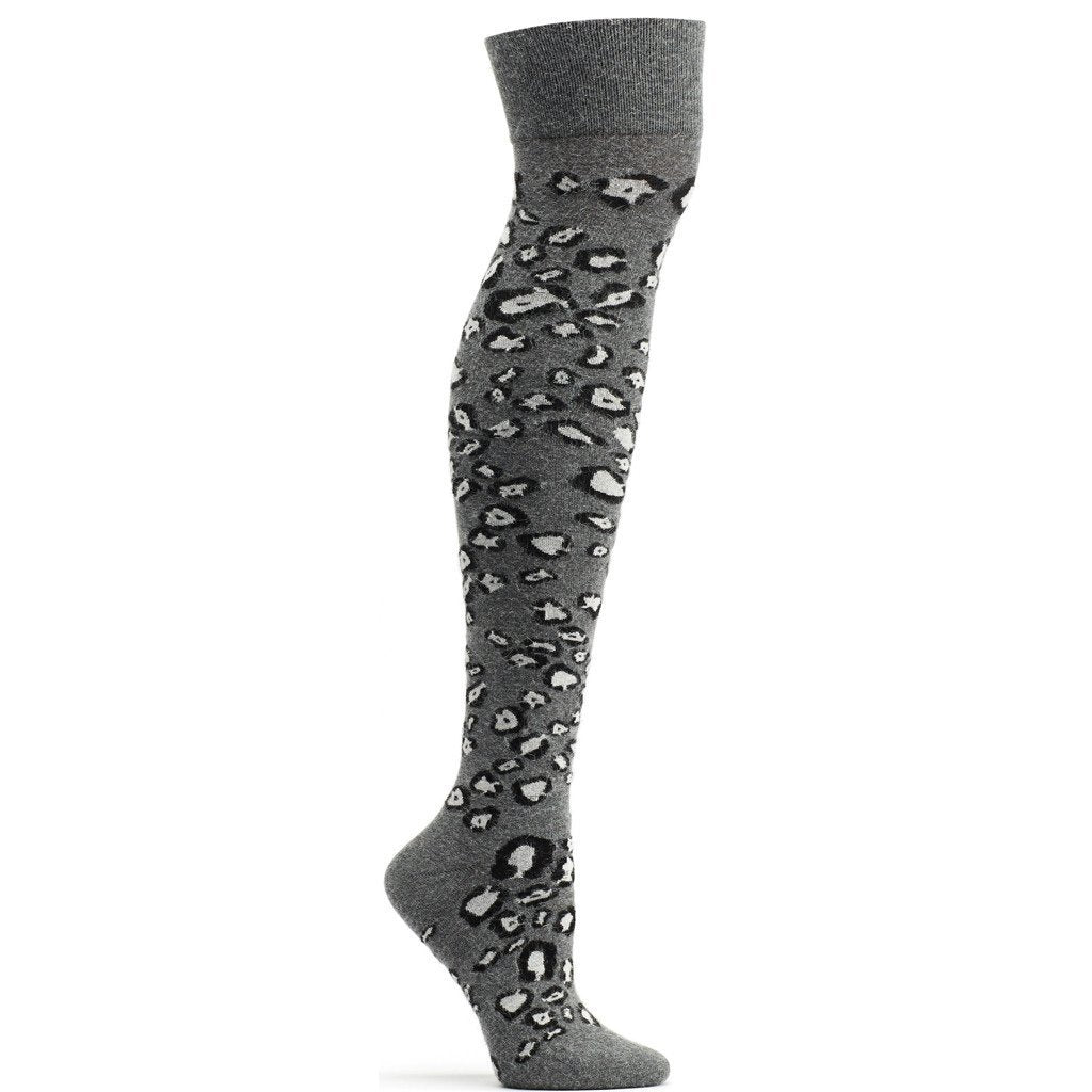 Snow Leopard Over the Knee Sock - Ozone Design Inc