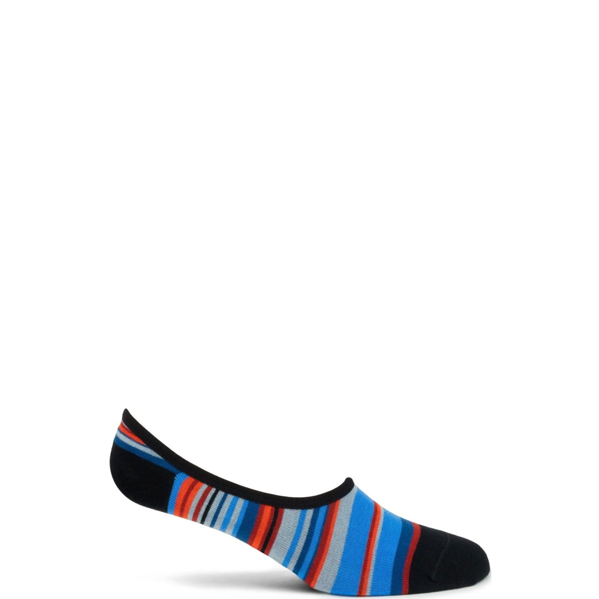 Transitional Stripes 2 No Show Sock - Ozone Design Inc