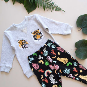 AUSTIN TRACKPANT - ANIMAL KINGDOM BLACK