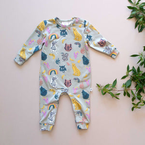 KNOXVILLE ROMPER - ANIMAL KINGDOM BLUE
