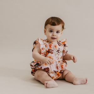 AUGUST ROMPER - DAHLIA FLAMINGO