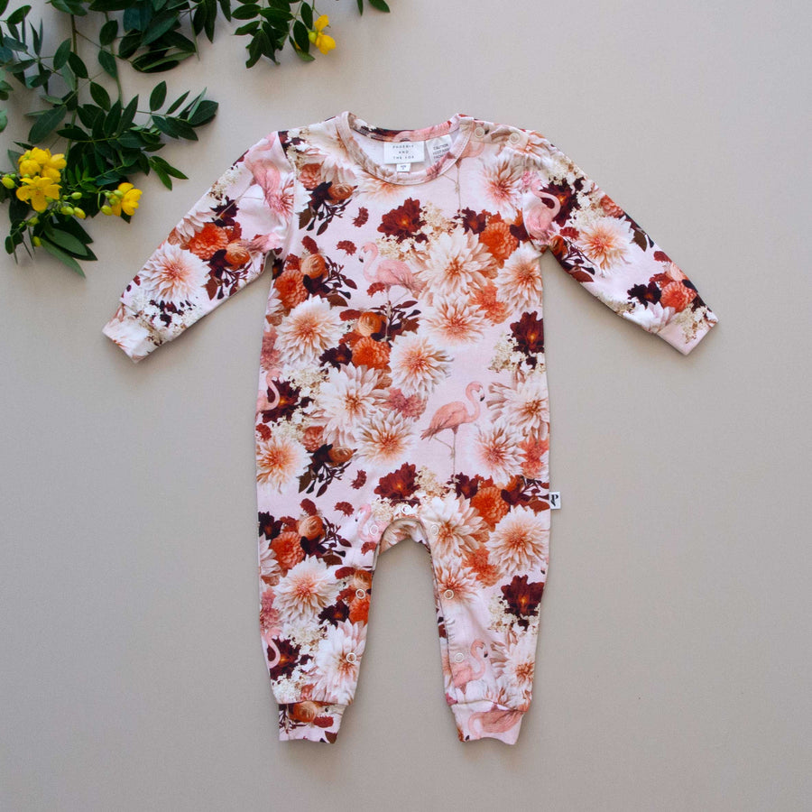 KNOXVILLE ROMPER - DAHLIA FLAMINGO