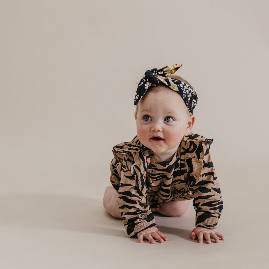 GEORGIA ROMPER - TIGER STRIPE FAWN