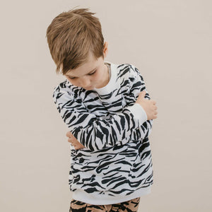 DAKOTA PULLOVER - TIGER STRIPE WHITE