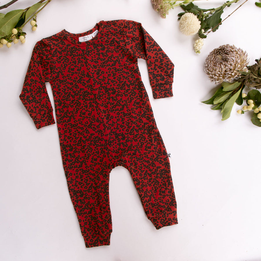 KNOXVILLE ROMPER RUBY CHEETAH