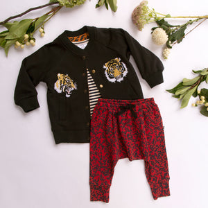 LOUISEVILLE REVERSIBLE JACKET - TIGER/ LEOPARD