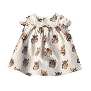 CHARLOTTE DRESS VERONA TIGER CREAM
