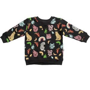 DAKOTA PULLOVER - ANIMAL KINGDOM BLACK