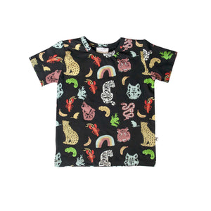DENVER TEE - ANIMAL KINGDOM BLACK