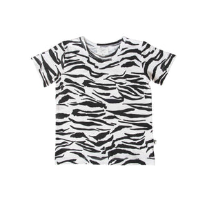 DENVER TEE - TIGER STRIPE WHITE