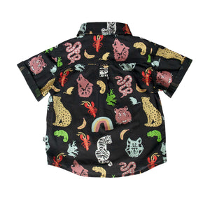 OCEANSIDE SHIRT - ANIMAL KINGDOM BLACK
