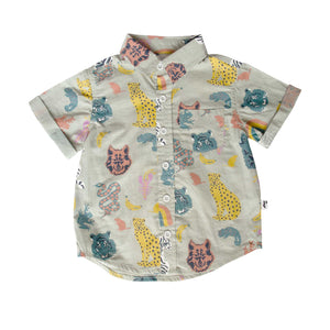 OCEANSIDE SHIRT - ANIMAL KINGDOM BLUE