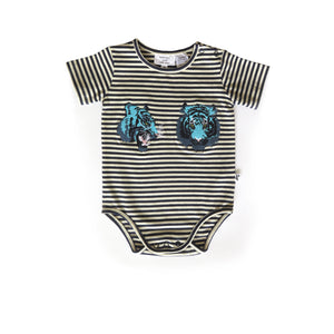 ORLANDO BODYSUIT NIGHT TIGER STRIPE