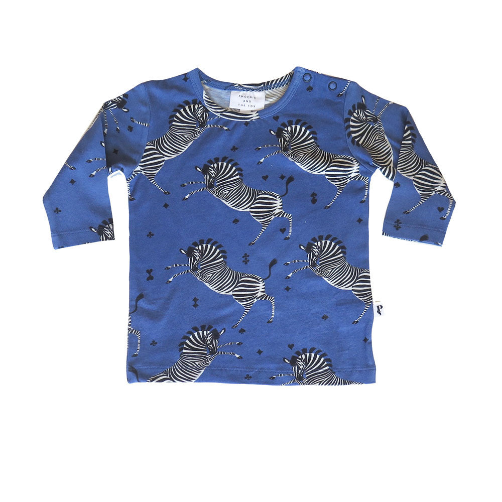 BALTIMORE TEE - MARSEILLE ZEBRA BLUE