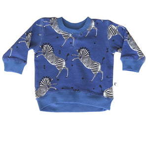 DAKOTA PULL OVER - MARSEILLE ZEBRA BLUE