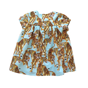 CHARLOTTE DRESS - YEAR OF THE TIGER BLUE