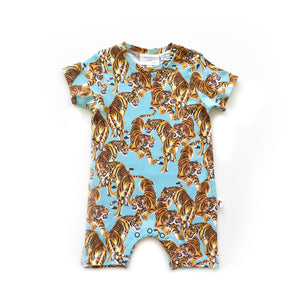 CLEVELAND ROMPER - YEAR OF THE TIGER BLUE