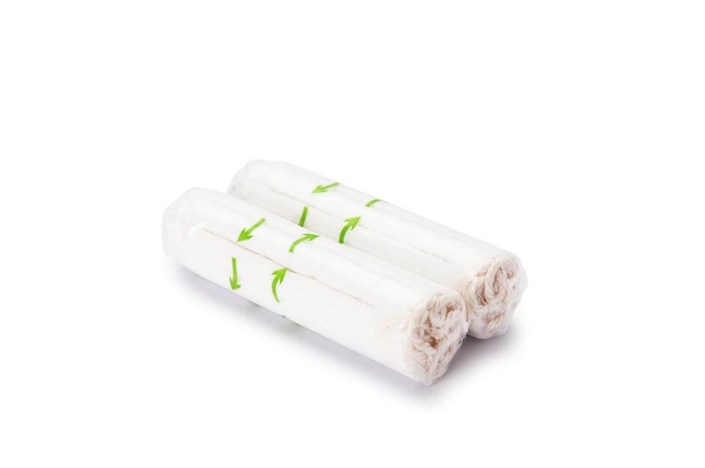 16x Regular Organic Cotton Tampons with Zip Pouch