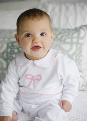 Little English Bow Playsuit