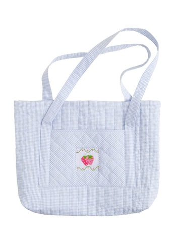 Little English Quilted Tote - Strawberry