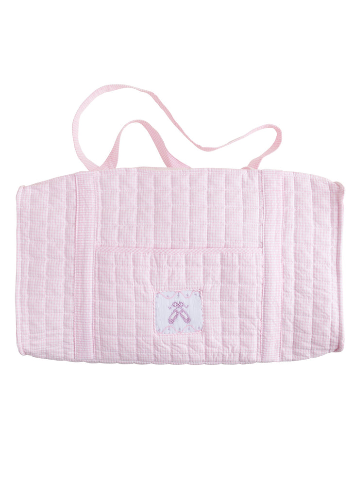 Little English Quilted Duffle Bag - Ballet Slippers