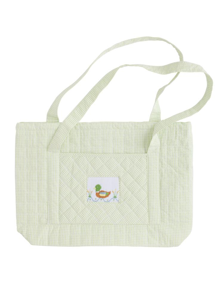 Little English Quilted Tote - Mallard