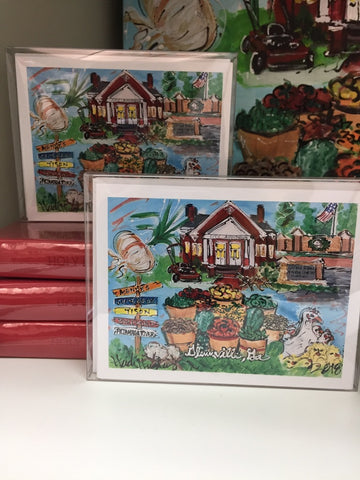 Custom Glennville Notecards by Heidi Hensley Art