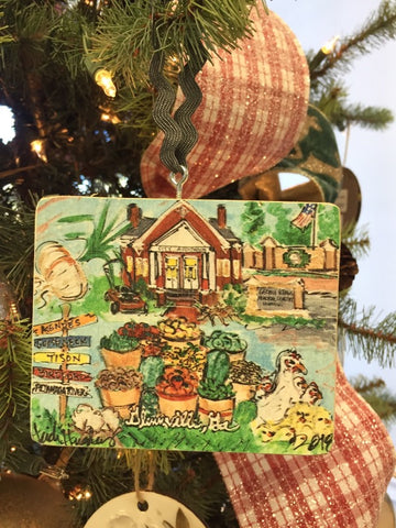 Custom Glennville Ornament by Heidi Hensley Art