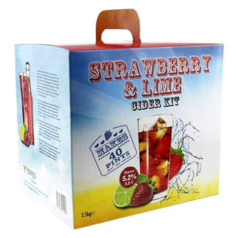 Strawberry & Lime Fruit Cider Kit | 40 pint | 5.2%