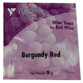 Young's Wine Yeast - burgundy red