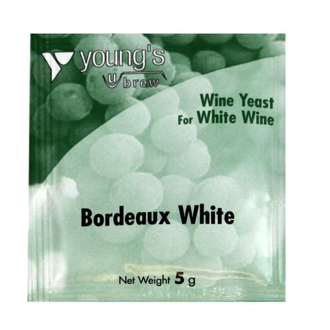 Young's Bordeaux White Wine Yeast Sachet 5g