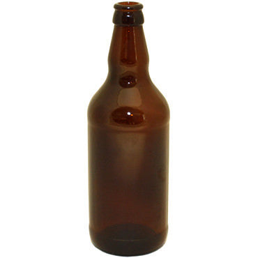 15 x 500 ml Glass Beer Bottles - Brown