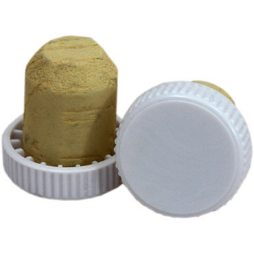 30 x Plastic Topped Flanged Corks White