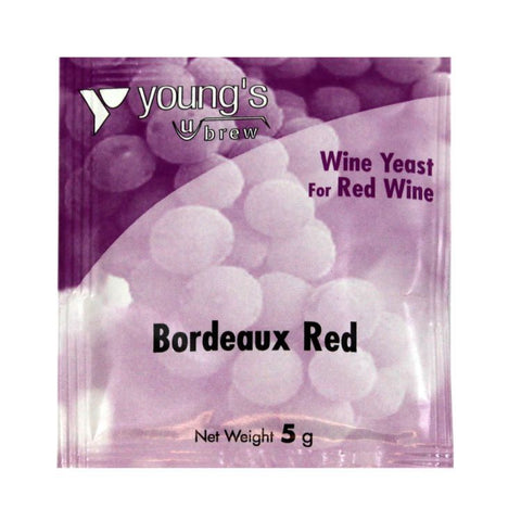 Young's Bordeaux Red Wine Yeast Sachet 5g
