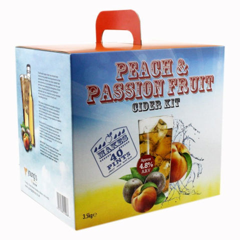 Peach & Passion Fruit Cider Kit | 40 pint | 4.8%