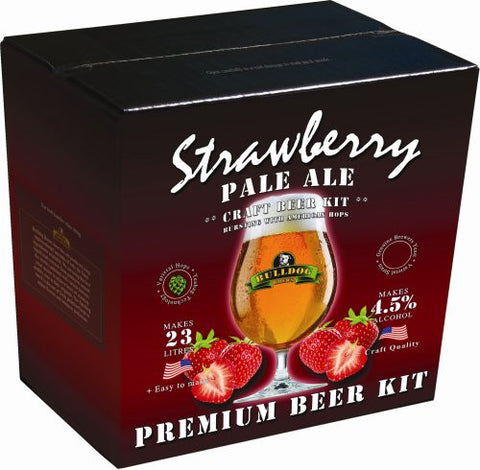 Bulldog Brews Strawberry Pale Ale 3.1kg - 40 pints (4.5%)