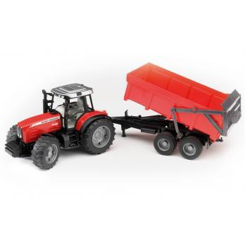 Bruder Massey Ferguson 7480 with Tipping Trailer (02045) Toy