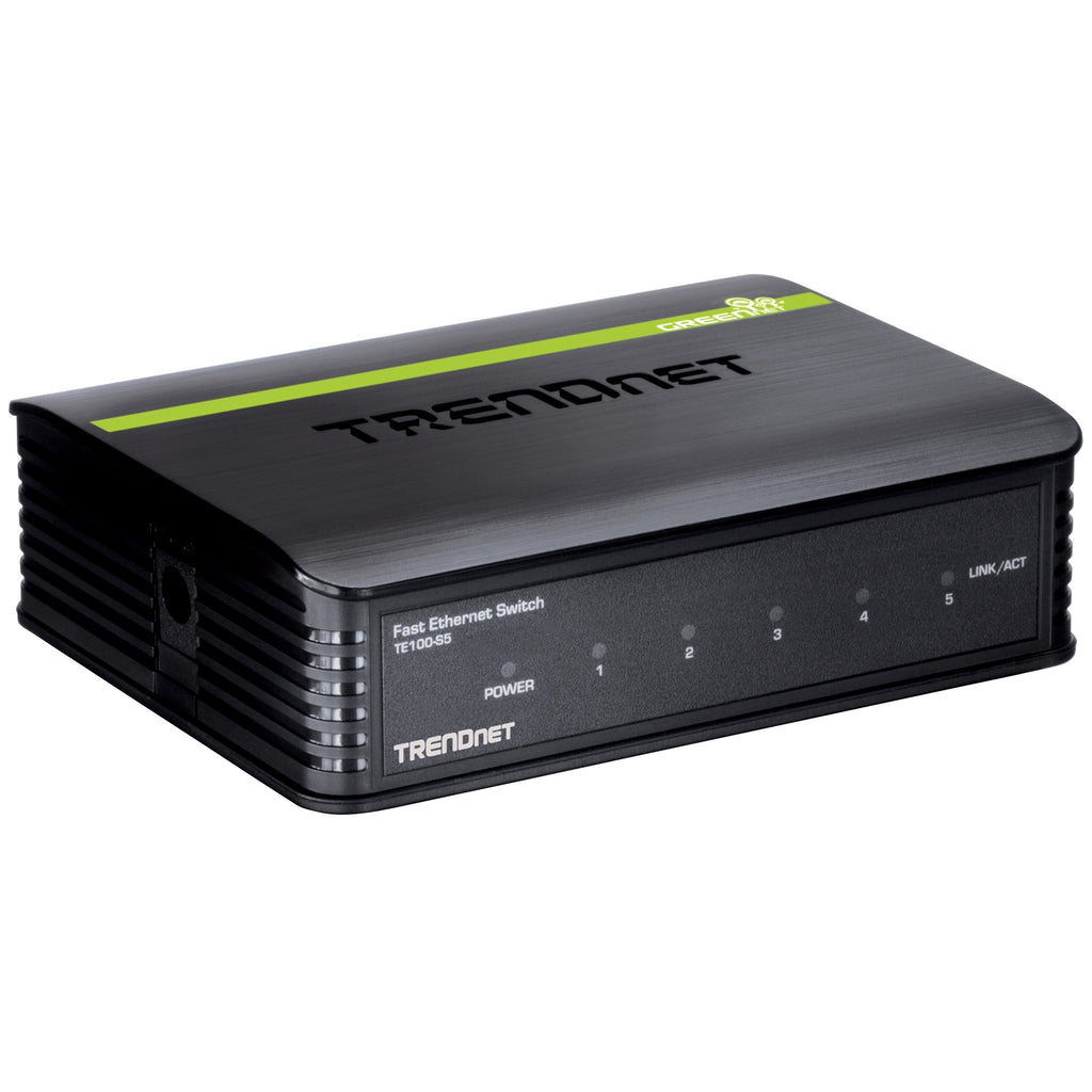 TRENDnet TE100-S5 5-port Fast Ethernet Switch - 5 x 10/100Base-TX (TE100-S5)