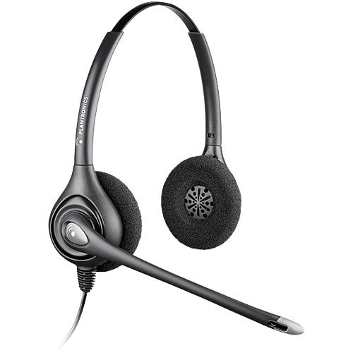 Plantronics SupraPlus HW261N Headset - Stereo - Silver - Quick Disconnect - Wired - Over-the-head - Binaural - Supra-aural - 3.9 ft - (64339-31)