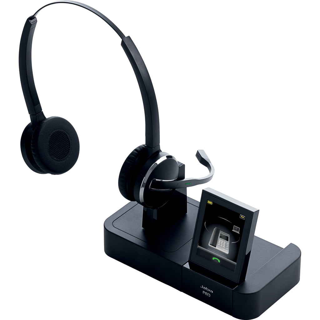 Jabra PRO 9460-Duo Headset - Stereo - Wireless - DECT - 492.1 ft - Over-the-head - Binaural - Semi-open (9460-69-707-105)
