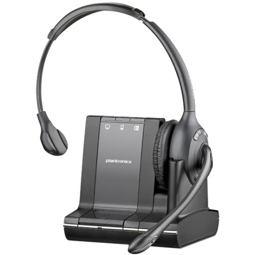 Plantronics Savi W710 Headset - Mono - Wireless - DECT - 393.7 ft - Over-the-head - Monaural - Semi-open - Noise Cancelling Microphone (83545-01)