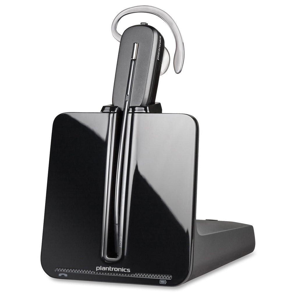 Plantronics Wireless Convertible Headset System - Mono - Black, Silver - Wireless - DECT - 350 ft - Over-the-head, Over-the-ear, - - - (84693-01)